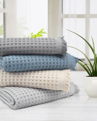 Lycia Turkish Cotton Waffle Bath Towel