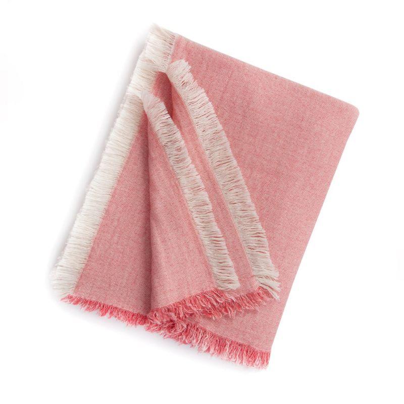 Brentwood Cotton-Wool Throw-Blush