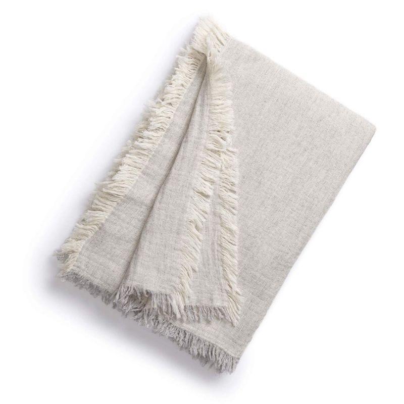 Brentwood Cotton-Wool Throw-Linen