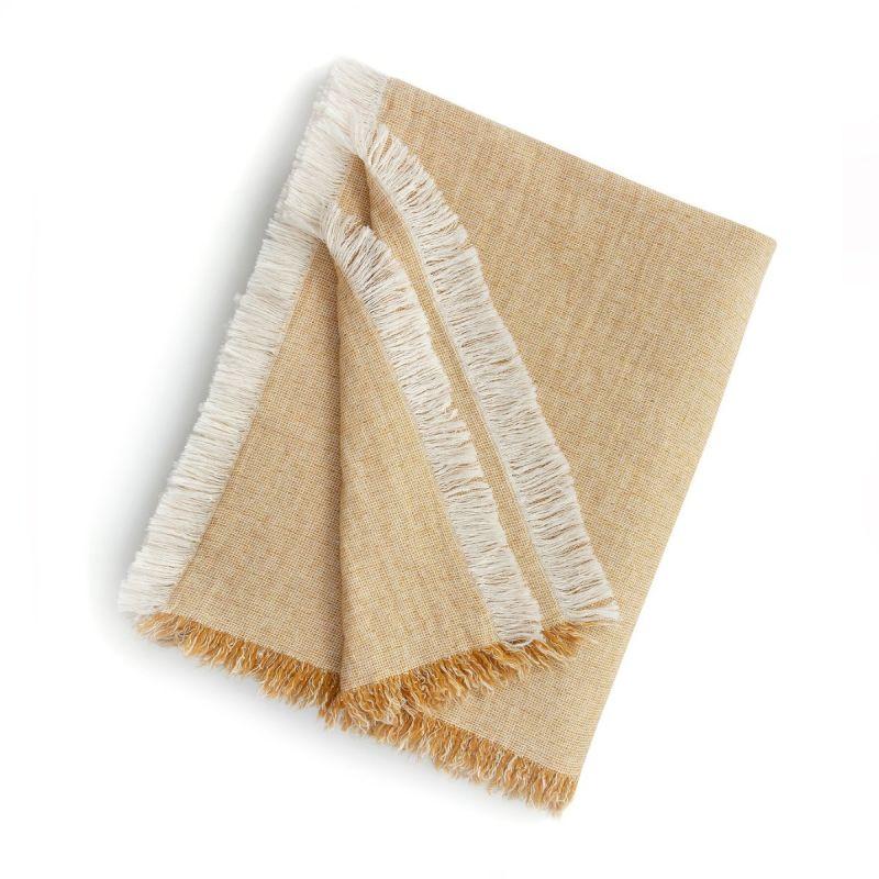 Brentwood Cotton-Wool Throw-Mustard