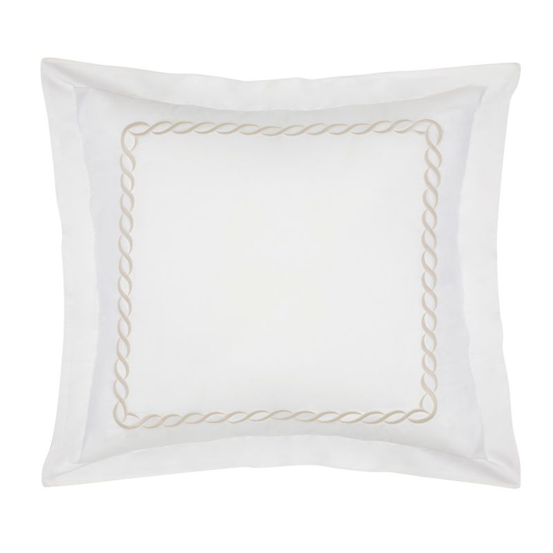 Catena Bedding Sham Set of 2-Taupe-Queen