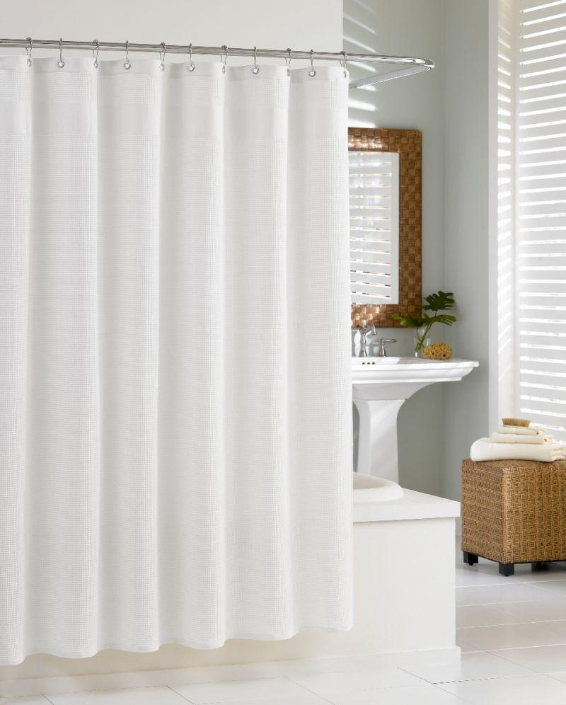"Hotel Waffle Shower Curtain-White-72""x72"""