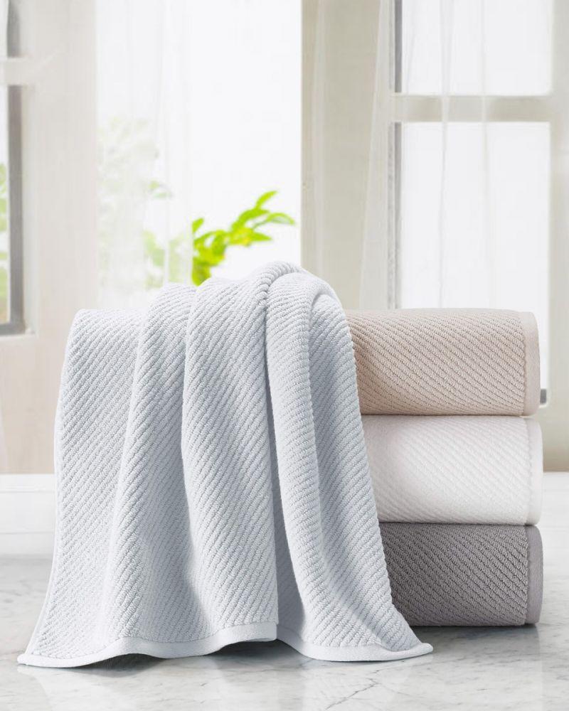 Malaga Ribbed Cotton Towel