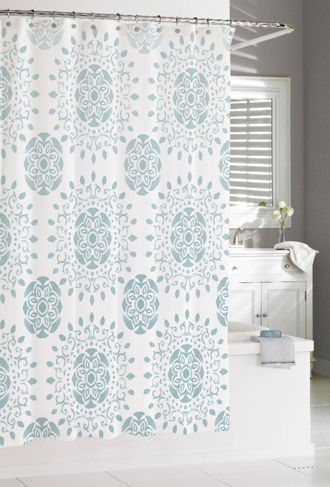 """Mccoy Medallion Shower Curtain-Blue-72""""x72"""""""