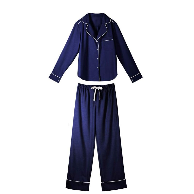 Daniela Pajama Set - Navy / White-Navy / White-M