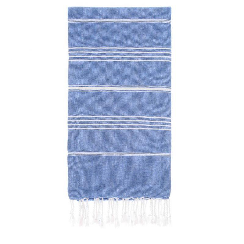 Lina Peshtemal Beach Towel-Sax Blue