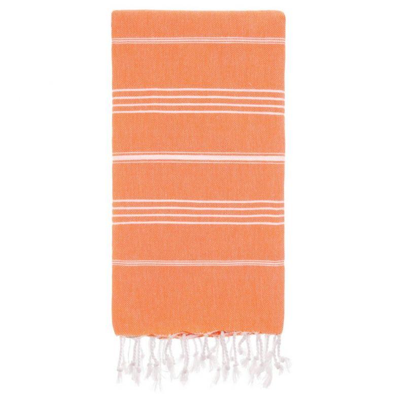 Lina Peshtemal Beach Towel-Orange