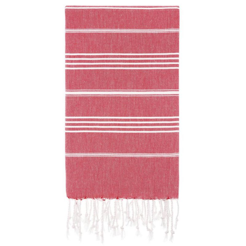 Lina Peshtemal Beach Towel-Red