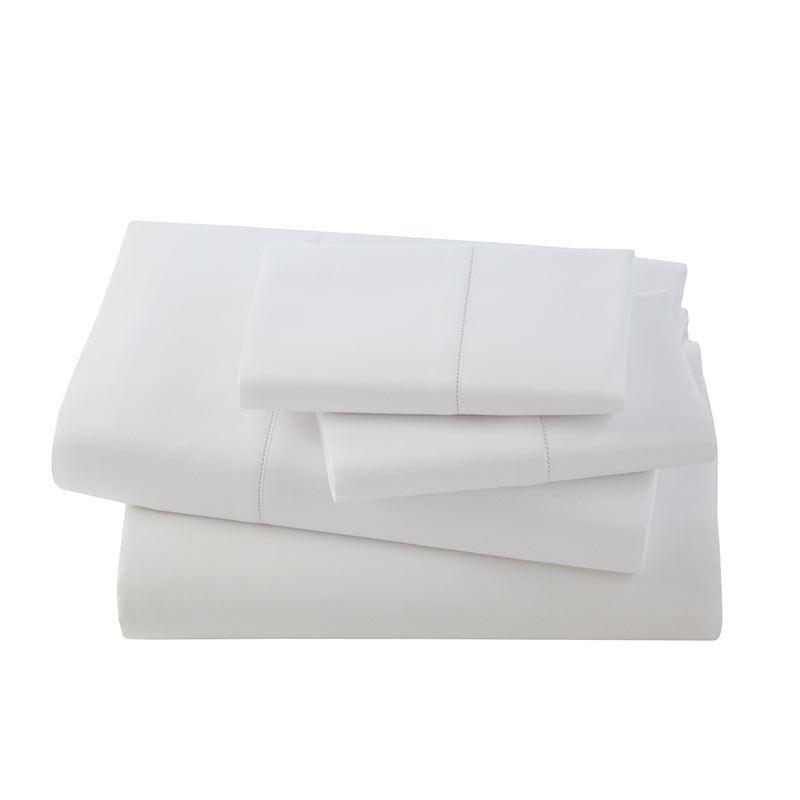 Vicenza Sateen Italian Sheet Set-White-King